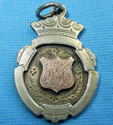 ANTIQUE 1921 STERLING SILVER POCKET WATCH FOB CHESTER By WILLIAM CASHMORE 10.9 G