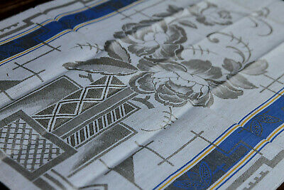 Art Deco Leinen Damast Geschirrtuch//Set  um 1925,Art Deco LinenTowel