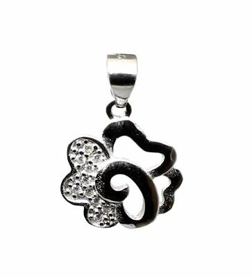 Pure 925 Sterling Silver Pendant CZ Platinum Finish for Girl