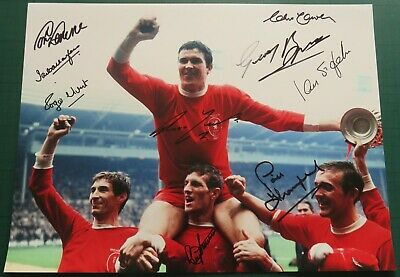 Liverpool 9 Signed 1965 FA Cup Large Photo AFTAL COA  Ron Yeats Roger Hunt