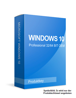 Microsoft Windows 10 Professional - MS Win 10 Pro - 32/64Bit - Key via E-Mail