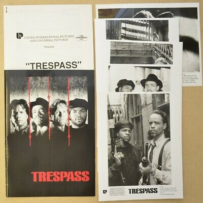 TRESPASS (1992) Press Kit with 5 Stills/ Photo's - Bill Paxton, Ice T, Ice Cube