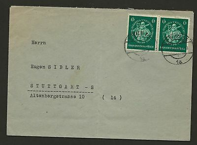 Germany Sc# B280 Used Stamps Pair On Cover Special Postmarks