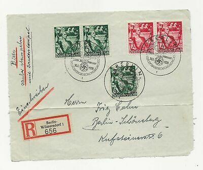 Germany Sc# B116-7 X 5 On One Sideregister  Cover
