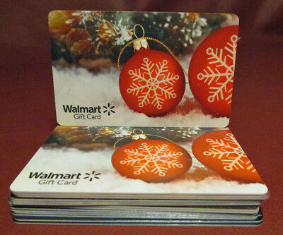 Lot Of 25 Assorted Walmart Christmas Gift Cards New With Tags
