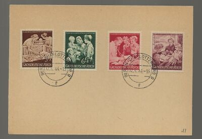 Germany Sc# B253-6 Used Stamps On Special Card Nice Cancels