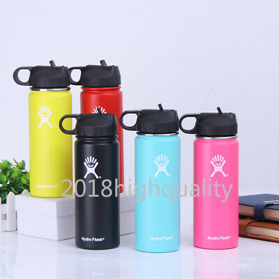 18/32oz/40oz Hydro FlaskStainless Steel Water Bottle Insulated Wide Mouth Straw