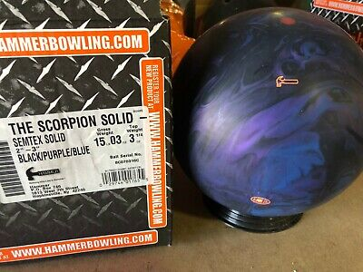 New 15lb Hammer The Scorpion Solid RARE OVERSEAS Bowling Ball 316C