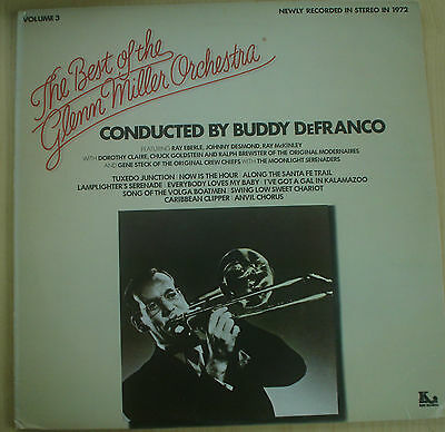 THE BEST OF THE GLEN MILLER ORCHESTRA VOL 3 - LP conducted by Buddy DeFranco