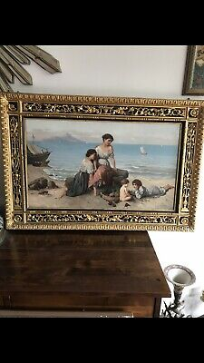 Antique 19th C Original Oil On Canvas Signed By Wilhelm Kray German 1828-1889