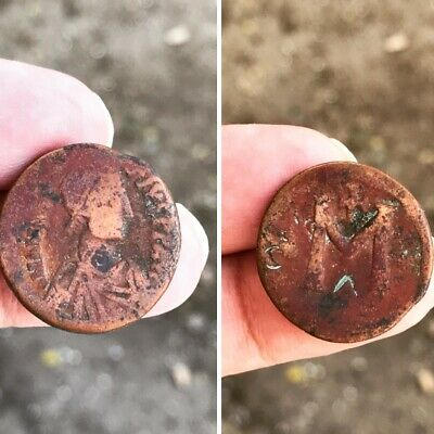 JUSTIN I & JUSTINIAN Rare 527AD Follis Authentic Ancient Byzantine Coin VAL$550