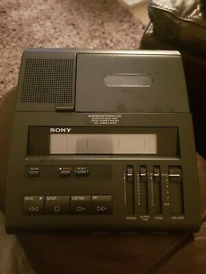 Sony BM-77 Desktop Standard Cassette Transcriber Transcription Kit
