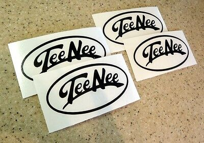 Tee Nee Vintage Boat Trailer Decals 4-pak Pick Your Color Free Ship + Fish Decal