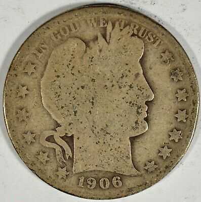 1906-O Collectible Silver Barber Half-Dollar (b542.29)