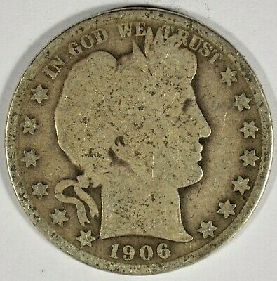 1906 Collectible Silver Barber Half-Dollar (b542.38)