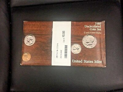 1985 P&D United States Mint Uncirculated 10 Coin Sets