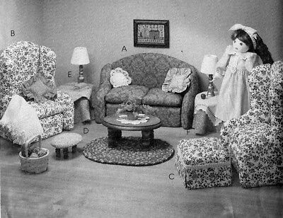 """M8775 McCall's 8775 Sewing Pattern Doll  like me 18"""" 45 cm FURNITURE Victorian"""