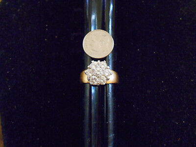 bling gold plated ICED OUT cubic cluster FASHION ring hip hop JEWELRY GP SIZE 9