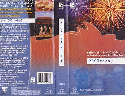 2000 Today New Year Abc   Vhs Video Pal~ Very  Rare Find~