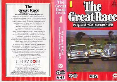 Motor Sport The Great Race 1960-1966 ~   Vhs Video Pal~ A Rare Find