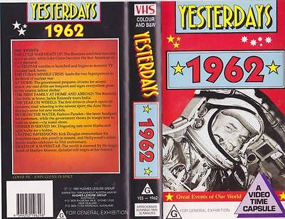 Yesterdays  1962 Vhs Video Pal~ Very  Rare Find~