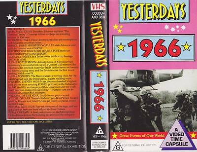 Yesterdays  1966 Vhs Video Pal~ Very  Rare Find~
