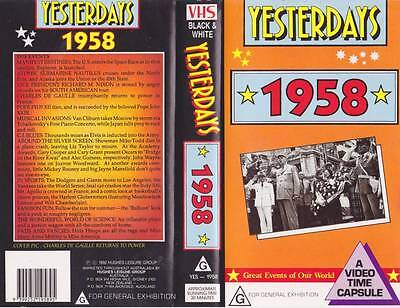 Yesterdays  1958 Vhs Video Pal~ Very  Rare Find~