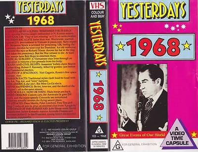 Yesterdays  1968 Vhs Video Pal~ Very  Rare Find~