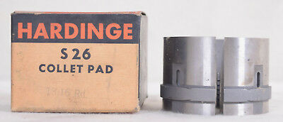 """Hardinge S26 Collet Pad Set 2/"""" Oversized Round 2.018/"""" Used in Good Condition"""