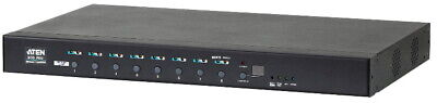 ATEN 8 Port 1U 16A Smart PDU - Bank level metering with outlet control, 8xC13