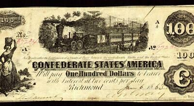 T40 $100 1862 PF-20 Cr. 30 ** Confederate States of America ** CURRENCY AUCTIONS