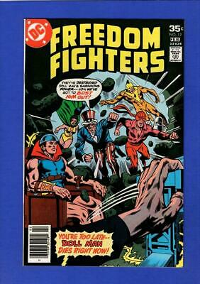 Freedom Fighters #12 Nm+ 9.6 High Grade Bronze Age Dc