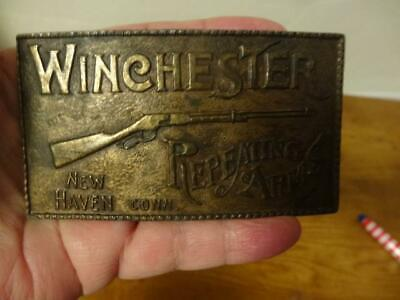 Vintage Belt Buckle-WINCHESTER RIFLE-New Haven Repeating Arms-A150