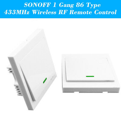 3PCS SONOFF T433 86 Type Luxury Wall Touch Panel Sticky 433MHz Wireless RF K0H2