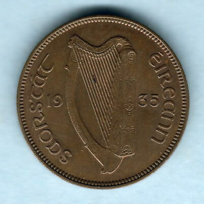 Ireland.  1935 Halfpenny..  gEF -  Part Lustre