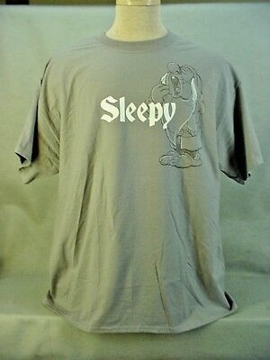 Snow White & the Seven Dwarf's SLEEPY Gray T-Shirt Adult Extra Large XL NEW