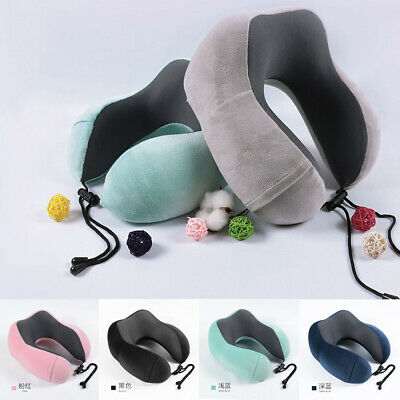 Luxury Premium Memory Foam U Shaped Neck Support Head Rest Cushion Travel Pillow