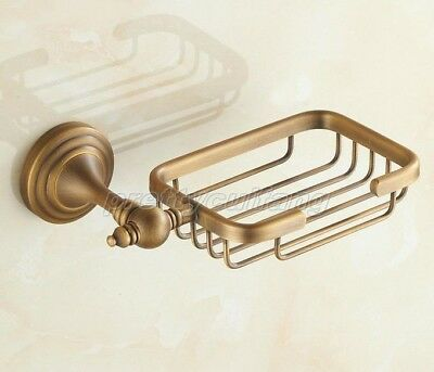 Bathroom Accessory Wall Mounted Antique Brass Wire Soap Dish Holder Pba039