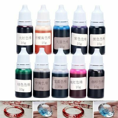 10 Colors 10G Epoxy Uv Resin Dye Colorant Resin Pigment Mix Color DIY Craft