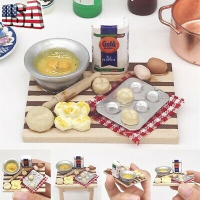 Mini Kitchen Cooking Dish Furniture Decoration For 1:12 Dollhouse Kids Toy Gift