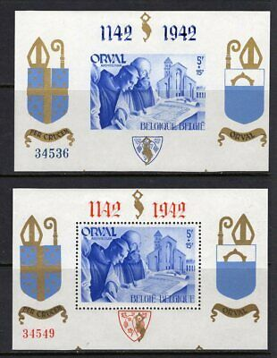 "BELGIUM 1942 - ""Orval Charity Stamps"" - 2 Miniature sheet"