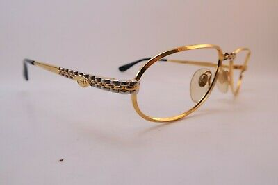 Vintage Ettore Bugatti eyeglasses frames Mod EB501 size 54-16 140 made in Italy