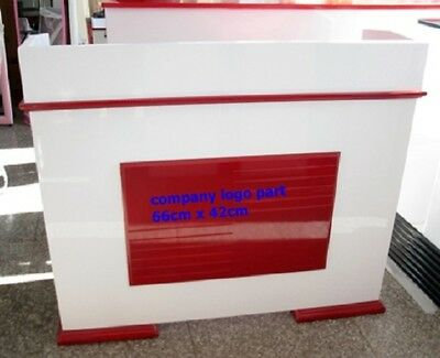 1X Red & White Cashier Desk Checkout Counter