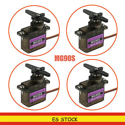 4PCS Micro Servo MG90S Metal Gear  para Futaba JR Helicopter RC COCHE BARCO