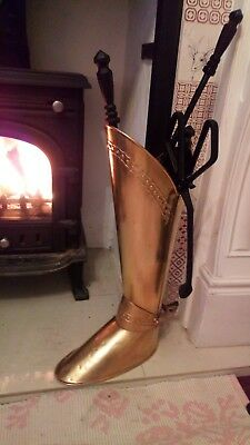Antique Large Brass Boot