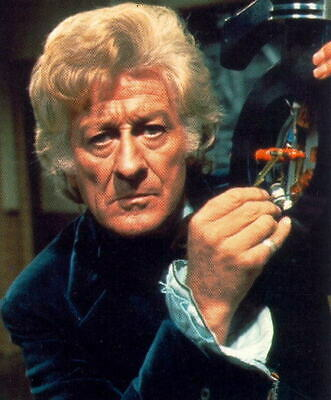 """JON PERTWEE- Third Doctor In -""""Doctor Who""""-1970-74-Signed album page & PC pic"""
