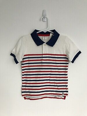 NWT Baby Gap Stripe Polo Shirt, Size 2 Years, Red White Blue