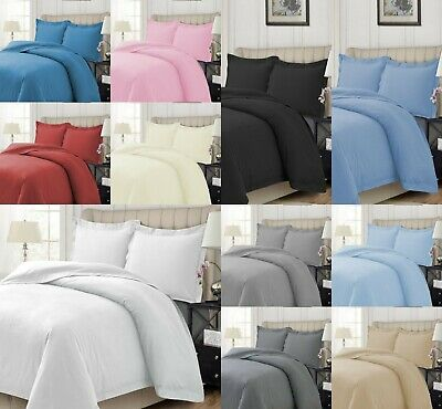 Flannelette Duvet Cover Set 100% Brushed Cotton Quilt Covers Single Double King