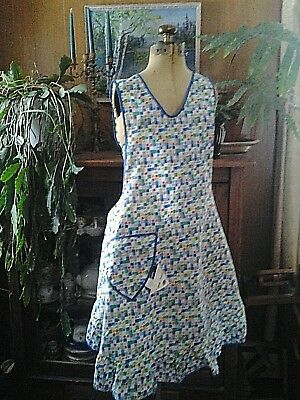 Vintage 1940's Pinafore Full Apron never worn new with tags Large