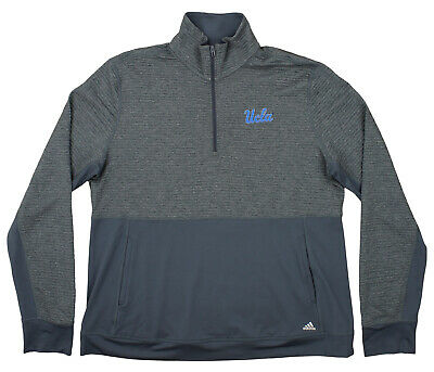 ADIDAS NCAA MEN S UCLA Bruins Sideline Climalite Long Sleeve 1 4 Zip ... 3d682d49a